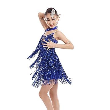Uioy Trajes de baile latino - lentejuelas Falda de baile ...