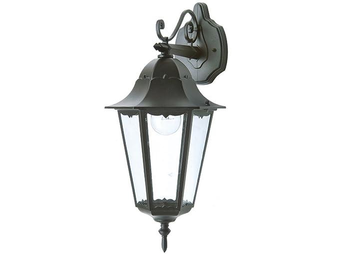 Lanterna Parete Esterno : Applique da parete bristol nero appeso con lanterna a led