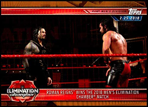 2019 Topps WWE Road to WrestleMania Bronze #28 Roman Reigns Wins Elimination Chamber Match Official Wrestling Trading Card (Best Elimination Chamber Matches)