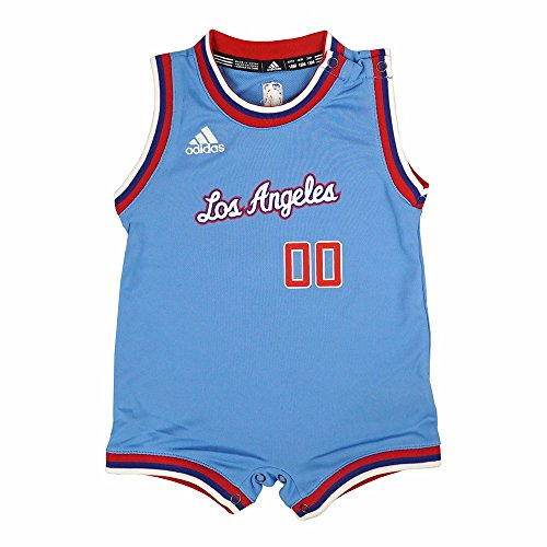 adidas Los Angeles Clippers NBA Light Blue Official Pride #00 Onesie Jersey for Infant (24M)