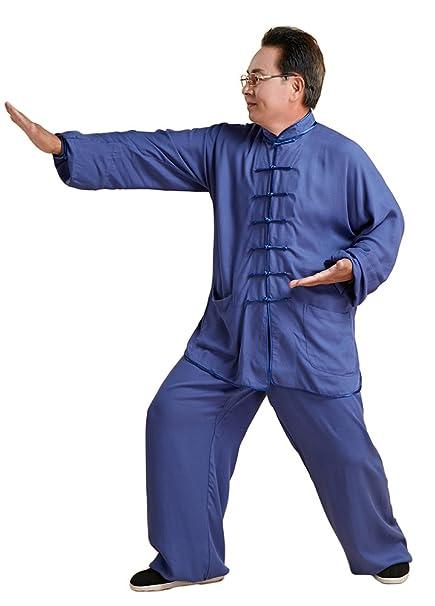 Amazon.com: avacostume Mens chino tradicional traje de Kung ...