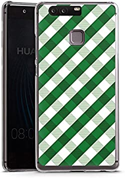 Huawei P10 Plus Carcasa Case Funda Móvil cuadros verde costura ...