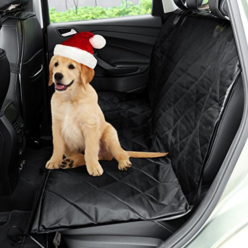 SAILNOVO Dog Car Seat Cover Water proof Non Slip Hammock Pet Car Seat Protector Dog Cover Back Seat Cars Trucks and SUVs