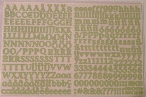 - Mini ABC/123 Stickers: Pistachio Classy