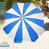 8ft Fiberglass Beach Umbrella UPF 100+ - Heavy Duty