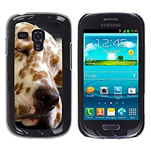 Vortex Accessory Carcasa Funda PARA SAMSUNG GALAXY S3 MINI i8190 ( NOT FOR S3 ) For - Great Dane Spots Dog Canine Pet