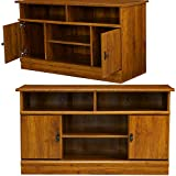 Multi Media TV Stand with Adjustable Shelves and Side Cabinets 42 Inch Large Wooden Low Modern Traditional Minimal Low Profile Flat Screen Tv Stand Media Storage Cabinet eBook by Easy&FunDeals