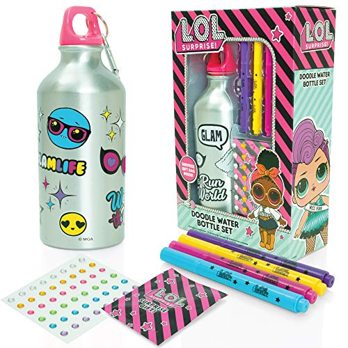 L.O.L. Surprise Colour Your Own Water Bottle Set For Girls – DIY Arts & Crafts Colouring Kit For Kids – Perfect LOL…