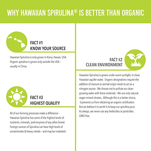 Pure Hawaiian Spirulina Powder 16 oz - Better than Organic - Vegan, Non-GMO, Non-Irradiated - 100% Hawaii Grown - Superfood Supplement & Natural Multivitamin by NUTREX HAWAII (Image #5)