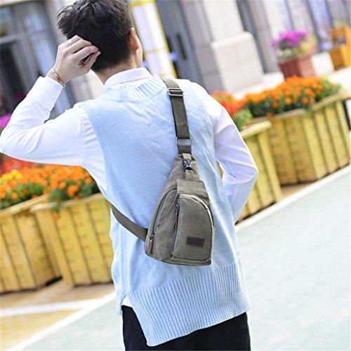 Leinwand Schulter Taschen Brust Tasche Herren Messenger Schultertasche Casual Kleine Umhängetasche Hohe Qualität Schultertasche Blackish green
