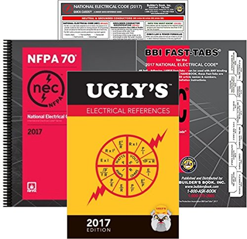 NFPA 70 2017: National Electrical Code (NEC) Spiralbound, Fast Tabs, Quick Card and Ugly's Electrical References, 2017 Editions, Package by NEC (Image #6)