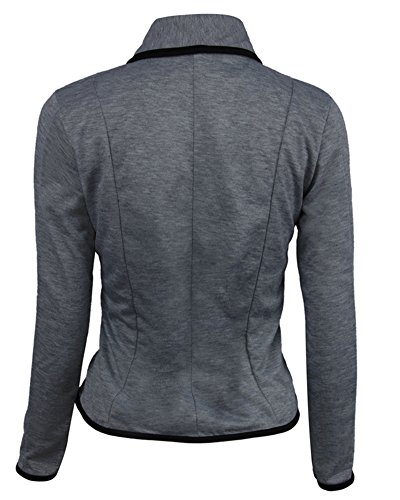 Business Elegante Giacca Camicetta Fit Darkgrigio Donne Blazer Slim Top Outwear tOqvOa7
