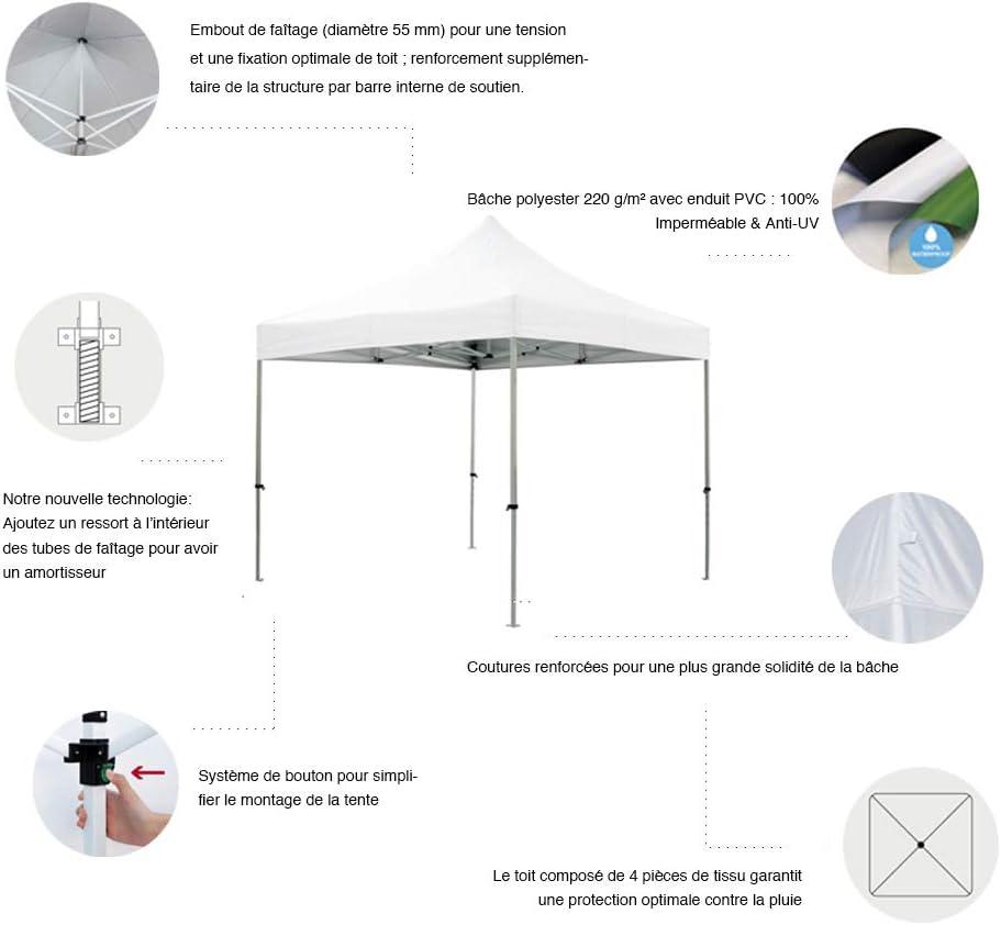 Nero GREADEN/-/Tenda pieghevole con 4/Pareti rimovibili 3/x 3/m Eco/ /Tubo 25/mm in acciaio/-/Telone 420d/-/GR-1FL33420AO2