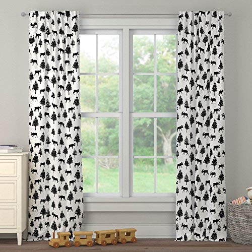 Carousel Designs Onyx Moose Drape Panel 96-Inch Length Blackout Lining 42-Inch Width