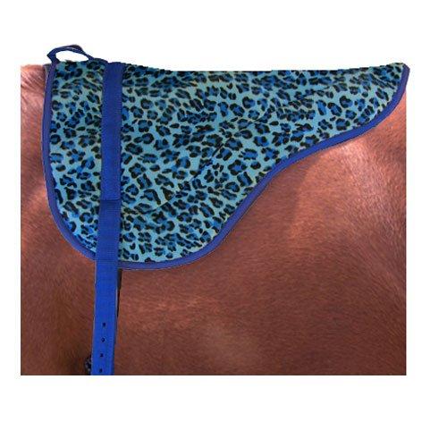 Intrepid International Leopard Print Non Slip Bottom Bareback Pad, English Blue