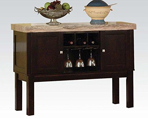 ACME 70133 Fraser Server, Faux Marble Top (Espresso Marble Top)