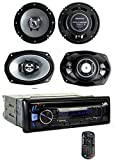 Kenwood KDC-BT362U Bluetooth Player Car Stereo Radio + 6.5 & 6x9 Inch Speakers