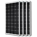 Renogy 4RNG-100D 4 Piece 100W Monocrystalline Photovoltaic PV Solar Panel Module 12V Battery Charging