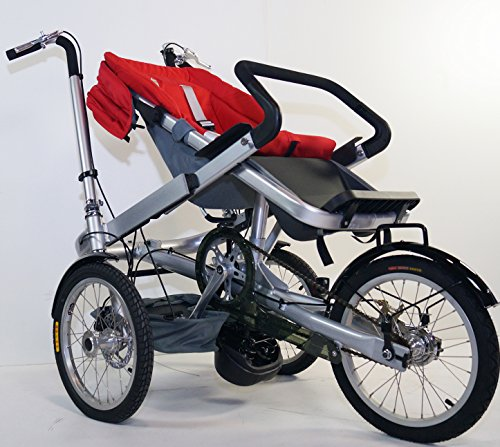 Red Family Stroller Bike for Children 6 Months to 5 Years of Age MCB-01S ALU by USA-MEGASTORE (Image #6)