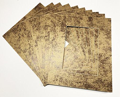 Textured Metal Frame (Textured Photo Mats - Burnished Metals - Inca Gold 11x14 for 8x10 Photos - Fits 11x14 Frame)