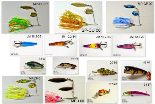 Akuna [IA] Pros' pick recommendation collection of lures for Bass, Panfish, Trout fishing in Iowa(Bass 15-A)