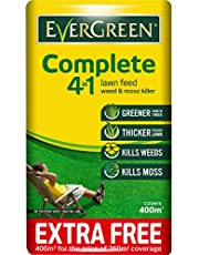 EverGreen 400sqm Complete 4-in-1 Lawn Care, Lawn Food, Weed and Moss Killer Bag