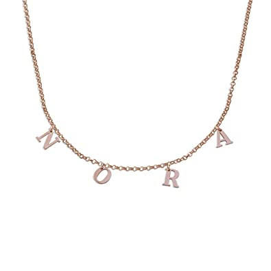 d3948cd162475 Personalized Dangle Name Choker Custom Initial Alphabet Pendant Necklace  with Hanging Name- Jewelry Gift