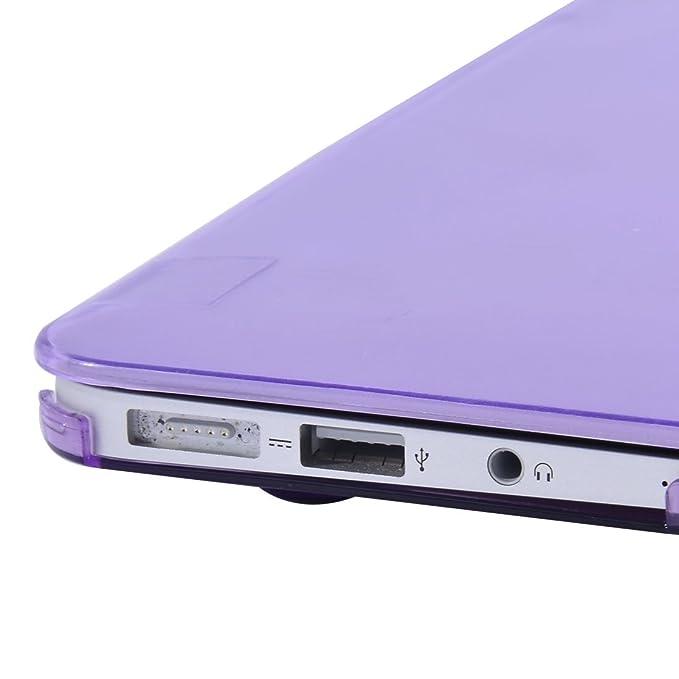 Amazon.com: eDealMax plástico Brillante Duro cristalino de la cubierta protectora del caso púrpura Para Apple MacBook Air DE 13 pulgadas: Electronics