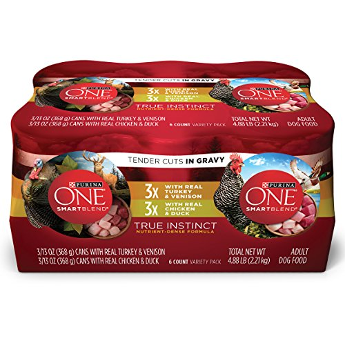 Purina One Smartblend True Instinct Tender Cuts In Gravy Wet Dog Food Variety Pack – (6) 13 Oz. Cans Review