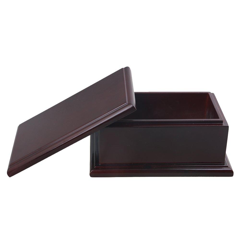 Dark Brown BQLZR 23x15x10cm Dark Brown Oblong Shape Cedarwood Pets Urn Cremation Ashes Memorial Box