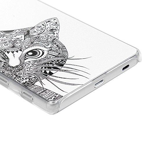 Funda Sony Xperia Z5, Lanveni Carcasa Rígida PC Plástico Super Fit Ultra Slim para Sony Xperia Z5 Transparente Protective Case - Patrón Peces Coloridos Diseño Diseño 1