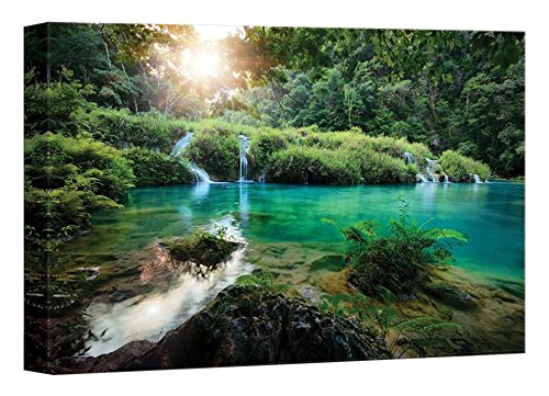 Beautiful Scenery Landscape Cascades National Park in Guatemala Semuc Champey at sunset Home Deoration Wall Decor ing
