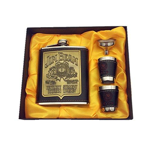 Luxury Jim Beam Flask Set