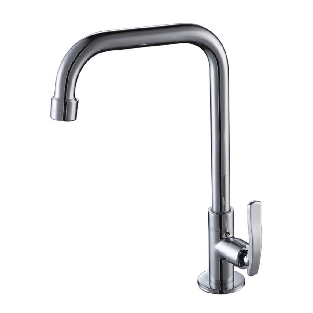 Yxx max Bathroom Kitchen Faucet Single Cold 360 Degree Rotating Sink Faucet Washbasin Faucet