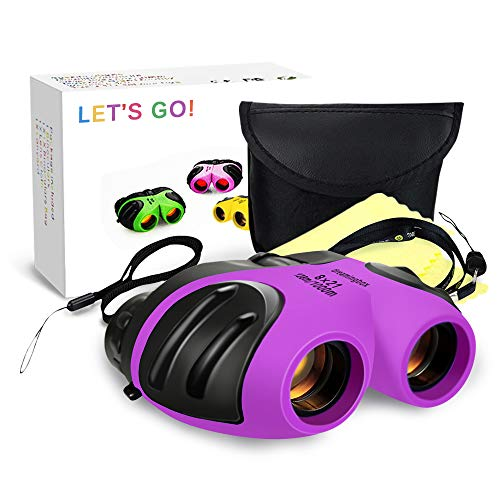 Best Girls Toys for 3-12 Year Old, DIMY Childrens Binoculars for Outdoor Travel Hunting Easter Toys for Girls 3-12 Year Old 2019 New Easter Gifts for Teen Girls Purple DL06