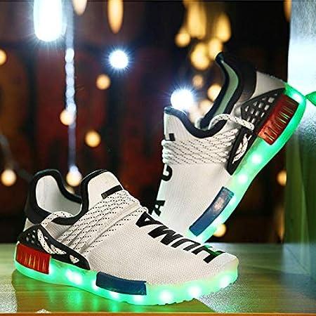 MOCA 30-44 Hombres y Mujer Zapatillas Fitness 2019,LED Zapatillas Running Niña y Niño,LED Zapatos para Correr Luz Luminosas 7 Colors USB Carga Zapatillas de Deporte: Amazon.es: Hogar