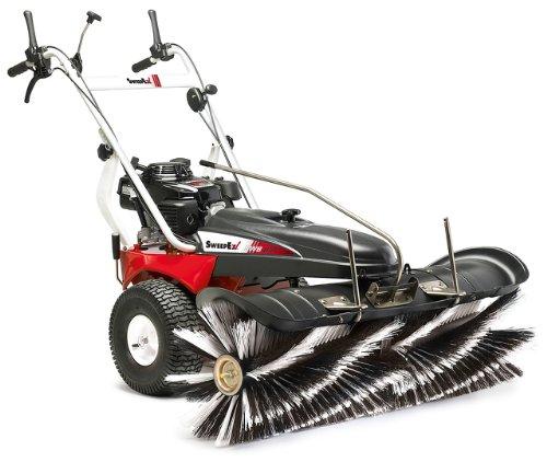 "Walk Behind Sweeper, 48"" Compact Model Rotary Broom easily cleans sidewalks from dust, debris and snow"