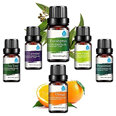 Pursonic 100% Pure Essential Aromatherapy Oils Gift Set