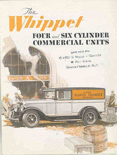 1930 Willys Whippet 4 & 6 Commercial Truck Brochure Roadster Pickup Panel Commercial Brochure