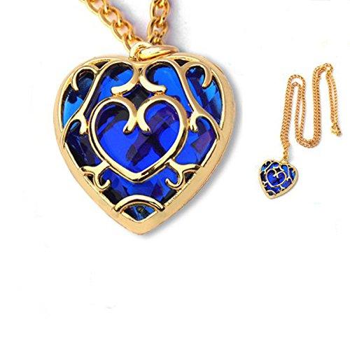 The Legend of Zelda Skyward Heart Cosplay Pendant Necklace-blue