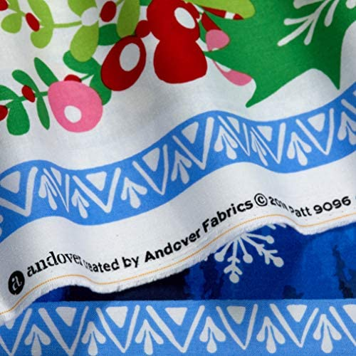 """Northern Lights Winter Bear By Andover Fabric 24/"""" Panel Craft Cotton Fabric"""