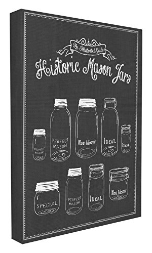 Stupell Home Décor Historic Mason Jars Vintage Typography