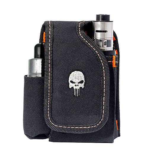 Vape Mod Carrying Bag, Vapor Case For Box Mod, Tank, E-juice, Battery - Best Vape Portable Travel to Keep Your Vape Accessories Organized [CASE ONLY] (Skull) ()