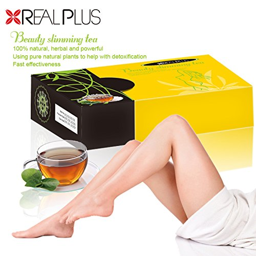 Real Plus Beauty Slimming Tea 2g X 20 Bags 100 Natural Herbal and Powerful
