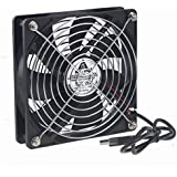Gdstime 120mm 12cm 5 inches 5V USB Power Cooling Fan For TV Box Router Cooler