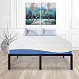 How Many Feet Is a California King Bed Olee Sleep 14 Inch Heavy Duty Steel Slat/ Anti-slip Support/ Easy Assembly/ Mattress Foundation/ Bed Frame/ Maximum Storage/ Noise Free/ No Box Spring Needed, Black