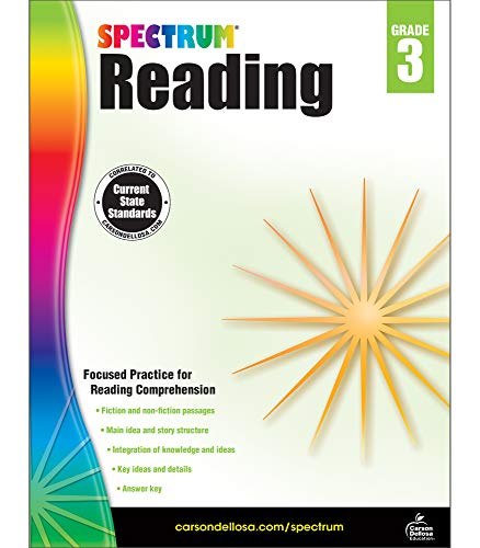 Spectrum Paperback Reading Workbook, Grade 3, Ages 8-9 (2nd Grade End Of Year Math Test)