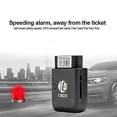 benwei Mini coche Trace antirrobo alarma GPS Localizador con OBD interfaz y alarma rápida para automóvil/motorcycle-black: Amazon.es: Coche y moto