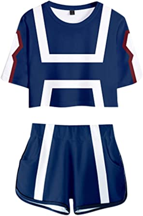 My Hero Academia Crop Top and Shorts Cosplay Costume Sets