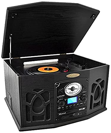 Superior Pyle Vintage Turntable   Retro Vinyl Stereo System With Bluetooth, Cassette  And CD Player,